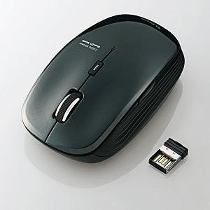 エレコム 5ボタンワイヤレスBlueLEDマウス M-BL21DBBK