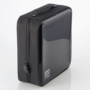 エレコム CD/DVDファスナーケース CCD-H320BK