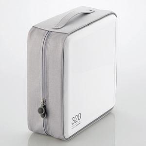 エレコム CCD-H320WH CD/DVDファスナーケース(320枚収納) ホワイト