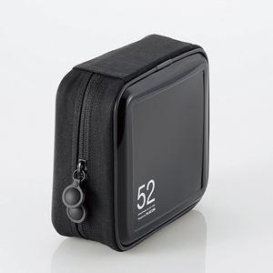エレコム CCD-H52BK CD/DVDファスナーケース(52枚収納) ブラック