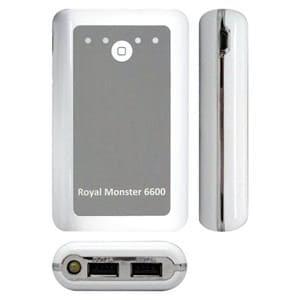 RM(アールエム) RM-2496WH 大容量ポータブルUSB充電器 6600mAh ホワイト