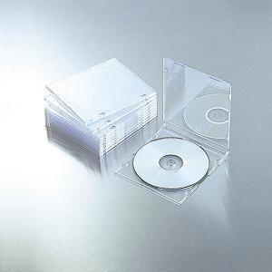 エレコム Blu-ray/DVD/CDケース(スリム/PS/1枚収納) クリア CCD-JSCS10CR