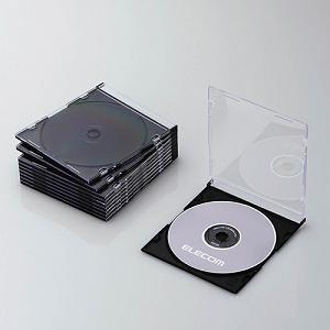 エレコム Blu-ray/DVD/CDケース(スリム/PS/1枚収納) ブラック CCD-JSCS10BK