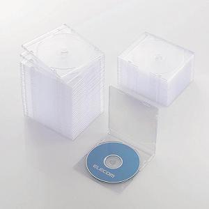 エレコム Blu-ray/DVD/CDケース(スリム/PS/1枚収納) クリア CCD-JSCS50CR