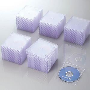 エレコム Blu-ray/DVD/CDケース(スリム/PS/1枚収納) クリア CCD-JSCS100CR