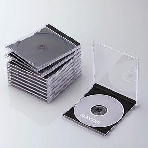 エレコム Blu-ray/DVD/CDケース(標準/PS/1枚収納/10パック) ブラック CCD-JSCN10BK