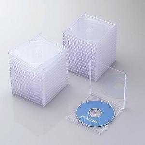 エレコム Blu-ray/DVD/CDケース(標準/PS/1枚収納/30パック) クリア CCD-JSCN30CR