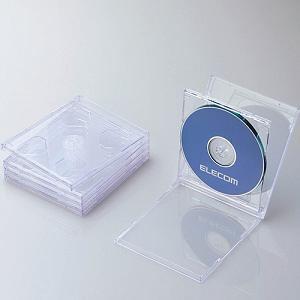 エレコム Blu-ray/DVD/CDケース(標準/PS/2枚収納/5パック) クリア CCD-JSCNW5CR