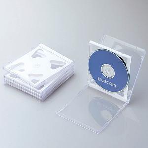 エレコム Blu-ray/DVD/CDケース(標準/PS/2枚収納/5パック) ホワイト CCD-JSCNW5WH