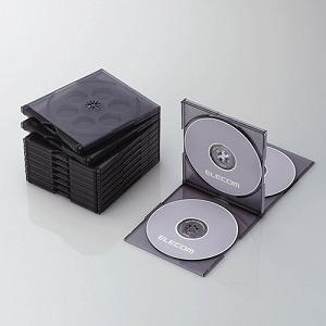 エレコム Blu-ray/DVD/CDケース(標準/PS/4枚収納/5パック) クリアブラック CCD-JSCNQ5CBK