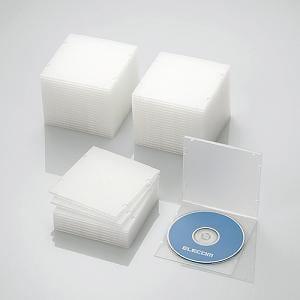 エレコム Blu-ray/DVD/CDケース(スリム/PP/1枚収納/50パック) クリア CCD-JPCS50CR