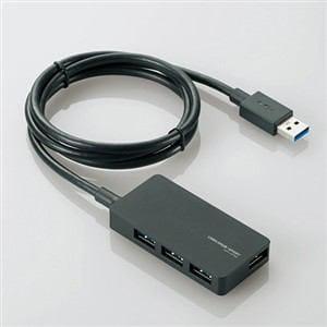 エレコム USB3.0対応ACアダプタ付き4ポートUSBハブ ブラック U3H-A408SBK