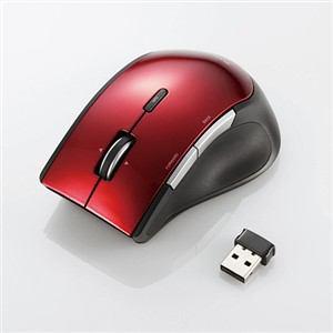 エレコム ワイヤレスBlueLEDマウス レッド M-BL22DBRD