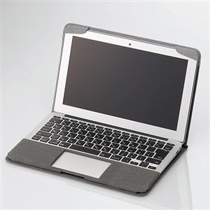 エレコム MacBook Air用ファブリックカバー グレー MB-A11FCGY
