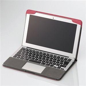 エレコム MacBook Air用ファブリックカバー レッド MB-A11FCRD