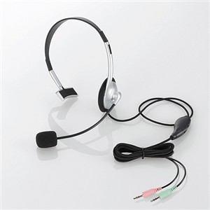 エレコム ヘッドセット(片耳小型オーバーヘッドタイプ) HS-HP21SV