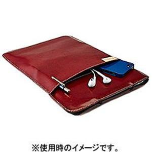 トリニティ MacBook Air 13インチ用 エコレザースリーブ レッド TR-BSA13E-RD