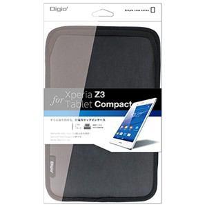 ナカバヤシ Xperia Z3 Tablet Compact用ケース ブラック TBC-XPC1403BK