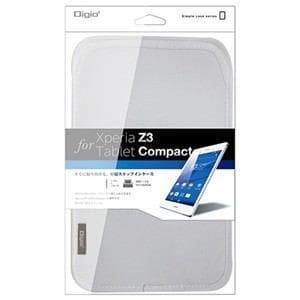 ナカバヤシ Xperia Z3 Tablet Compact用ケース ホワイト TBC-XPC1403W