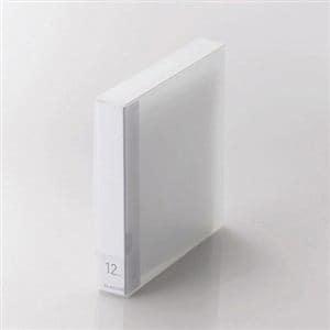 エレコム Blu-ray/DVD/CD用ディスクファイル 12枚収納 クリア CCD-FB12CR