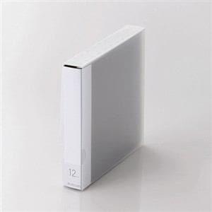エレコム DVD/CD用ディスクファイル 12枚収納 ブラック CCD-FS12BK