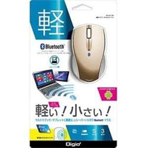 ナカバヤシ MUSBKT99GL 無線マウス(BlueLED/Bluetooth/3ボタン/ゴールド) [Bluetoothマウス・ブルーLED方式]