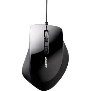 バッファロー 静音 有線BlueLEDマウス 5ボタン DPI切り替え付き ブラック BSMBU23SBK
