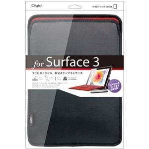 ナカバヤシ Surface3用スリップインケース ブラック TBC-SF31503BK
