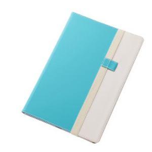 レイ・アウト Xperia Z4 Tabletバイカラー・ブックレザー(合皮)/ブルー/ホワイト RT-Z4TLC7/AW