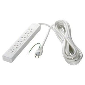 バッファロー 電源タップ マグネット付(6個口・2m) ホワイト BSTAPMG3620WH