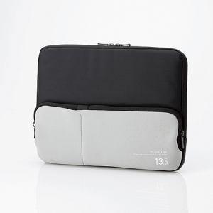 エレコム ポケット付きPCインナーバッグ ブラック BM-IBPT13BK
