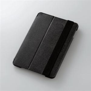 エレコム iPad mini 4用ソフトレザーケース 2段階調節 ブラック TB-A15SPLF1BK