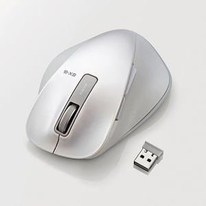 エレコム EX-G ワイヤレスBlueLEDマウス Lサイズ ホワイト M-XGL10DBWH