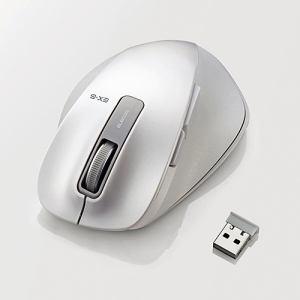 エレコム EX-G ワイヤレスBlueLEDマウス Mサイズ ホワイト M-XGM10DBWH