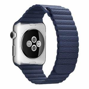 アップル(Apple) MLHL2FE/A Apple Watch 42mm ケース用 ミッドナイトブルーレザーループ - M