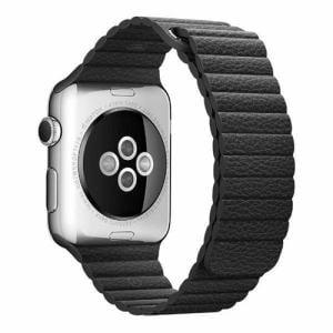アップル(Apple) MJY52FE/A Apple Watch 42mm ケース用 ブラックレザーループ - M