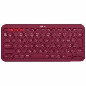 ロジクール K380 マルチデバイス Bluetooth キーボード レッド K380RD