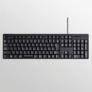 エレコム 有線キーボード ブラック TK-FCM085BK