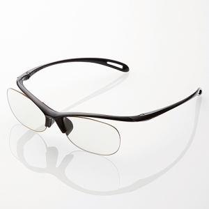 エレコム エクリア ブルーライト対策メガネ(老眼鏡) ブラック R-BC25-L01BK