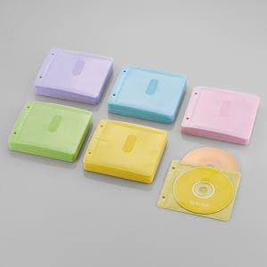 エレコム Blu-ray・CD・DVD対応不織布ケース 2穴 アソートカラー 120枚(両面収納) CCD-NBWB240ASO
