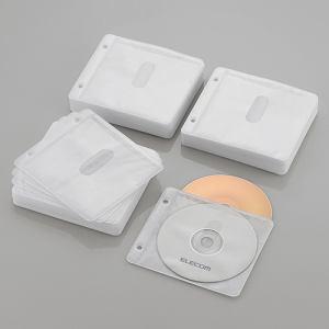 エレコム Blu-ray・CD・DVD対応不織布ケース 2穴 ホワイト 120枚(両面収納) CCD-NBWB240WH
