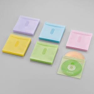 エレコム Blu-ray・CD・DVD対応不織布ケース タイトルカード アソートカラー 60枚(両面収納) CCD-NIWB120ASO