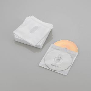 エレコム Blu-ray・CD・DVD対応不織布ケース タイトルカード ホワイト 30枚(両面収納) CCD-NIWB60WH