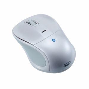 ナカバヤシ Bluetooth 静音3ボタンBlue LEDマウス ホワイト MUS-BKT111W