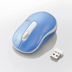 エレコム M-DY10DRBUL 無線Sサイズボトムマウス(3ボタン) ライトブルー