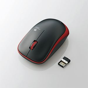 エレコム M-IR07DRRD 無線IRマウス(3ボタン) レッド