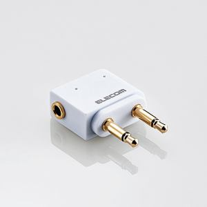 エレコム MPA-T35DSADWH φ3.5mmデュアルジャック変換アダプタ ホワイト