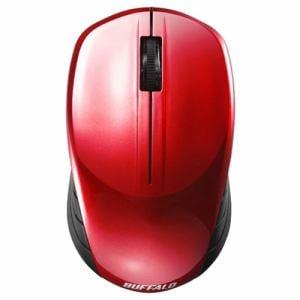 バッファロー BSMBW100RD 無線(2.4GHz) BlueLEDマウス 3ボタン レッド