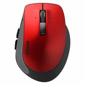 バッファロー BSMBB500SRD PremiumFitマウス Bluetooth3.0/BlueLED光学式/静音/5ボタン/横スクロール/Sサイズ レッド