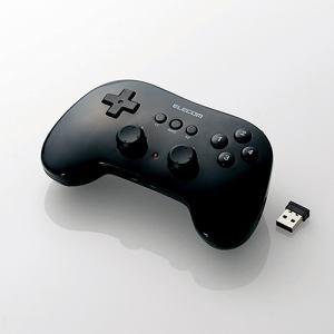 エレコム JC-U3912TBK 小型軽量ワイヤレスゲームパッド ブラック